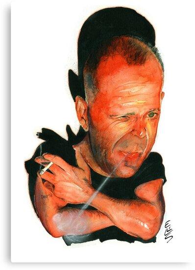 Bruce Willis by drawgood