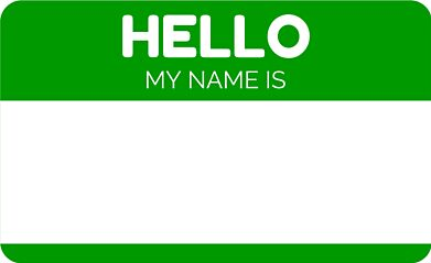 hello my name is green stickers by witza redbubble. Black Bedroom Furniture Sets. Home Design Ideas