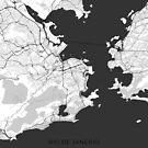 Rio de Janeiro Stadtkarte Grau von HubertRoguski