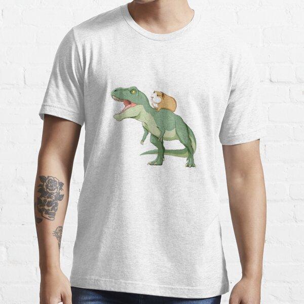 Funny Guinea Pig Riding T Rex Dinosaur Essential T-Shirt