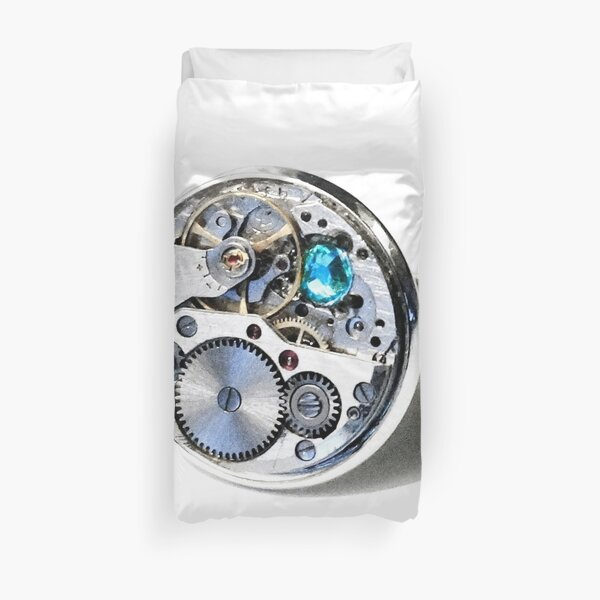 Clock: CyberPunk, Steampunk, Technopunk Duvet Cover