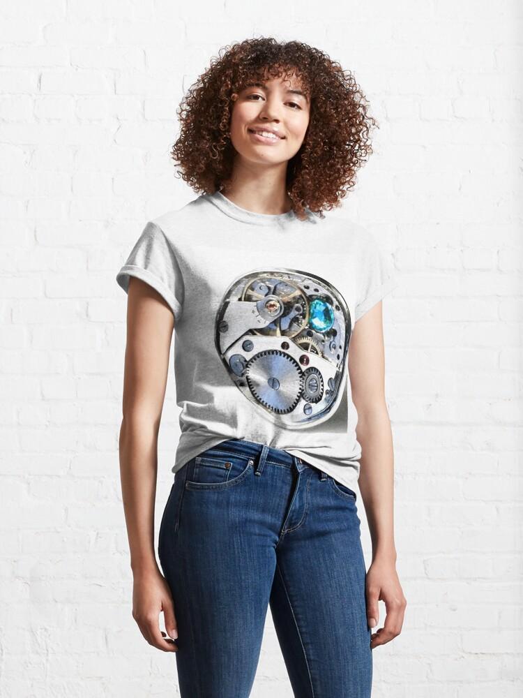Alternate view of Clock: CyberPunk, Steampunk, Technopunk Classic T-Shirt