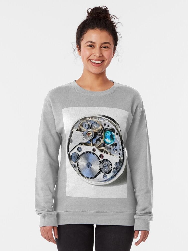 Alternate view of Clock: CyberPunk, Steampunk, Technopunk Pullover Sweatshirt
