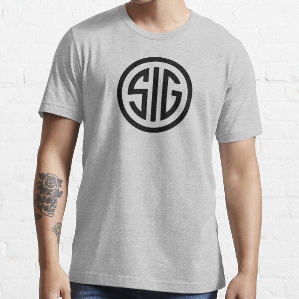 The Sig Gun Never Seatle Black Essential T-Shirt