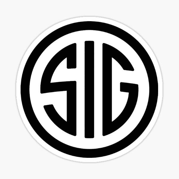 Le Sig Gun Never Seatle Noir Sticker