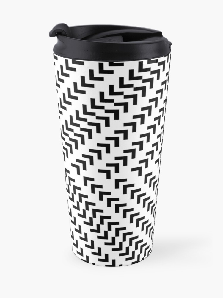 Alternate view of #Parallel #Geometry #Pattern #Art Decoration Ornate Tapestry Colorfulness Travel Mug