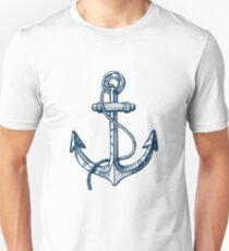 Anchor and steering wheel T-Shirt