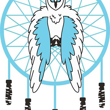 Blue Owl Dreamcatcher by weirdotwin