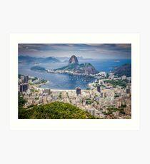 Rio de Janeiro aerial view Art Print