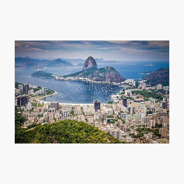 Rio de Janeiro aerial view Photographic Print
