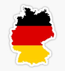 Flag Map of Germany  Sticker