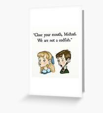 We Are Not A Codfish Greeting Card