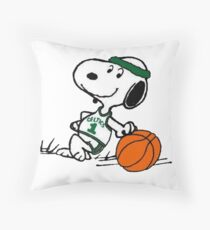 Snoopy basketball Throw Pillow