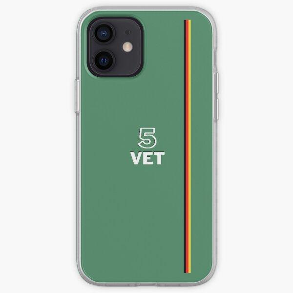 Sebastian Vettel 5 Aston Martin F1 Design des couleurs Coque souple iPhone