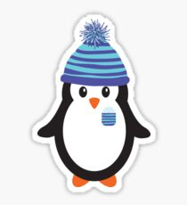 Pocket Snowflake the Penguin Sticker