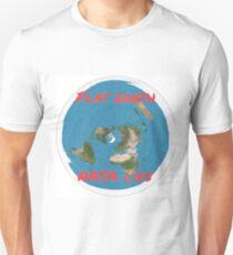 Flat earth reality nasa lies Unisex T-Shirt