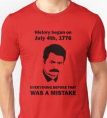 Ron Swanson History July 4 1776 (light) Unisex T-Shirt