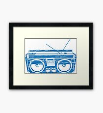 radio child of the eighties 1980 back to the future Framed Print