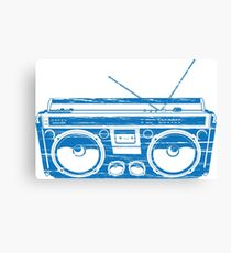 radio child of the eighties 1980 back to the future Canvas Print