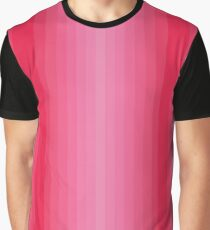 Pink Vertical Gradient stripes Graphic T-Shirt