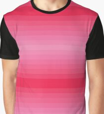 Pink Horizontal Gradient stripes Graphic T-Shirt