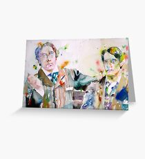 OSCAR WILD and BOSIE - watercolor portrait Greeting Card
