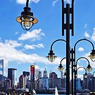 Manhattan, NY - Skyline From Liberty State Park by Susan Savad