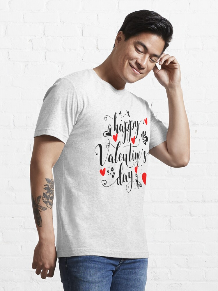 "Alternate view of Happy Valentine""s Day  Essential T-Shirt"