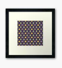 Insecta Geometrica - Geometric Insects Pattern Framed Print