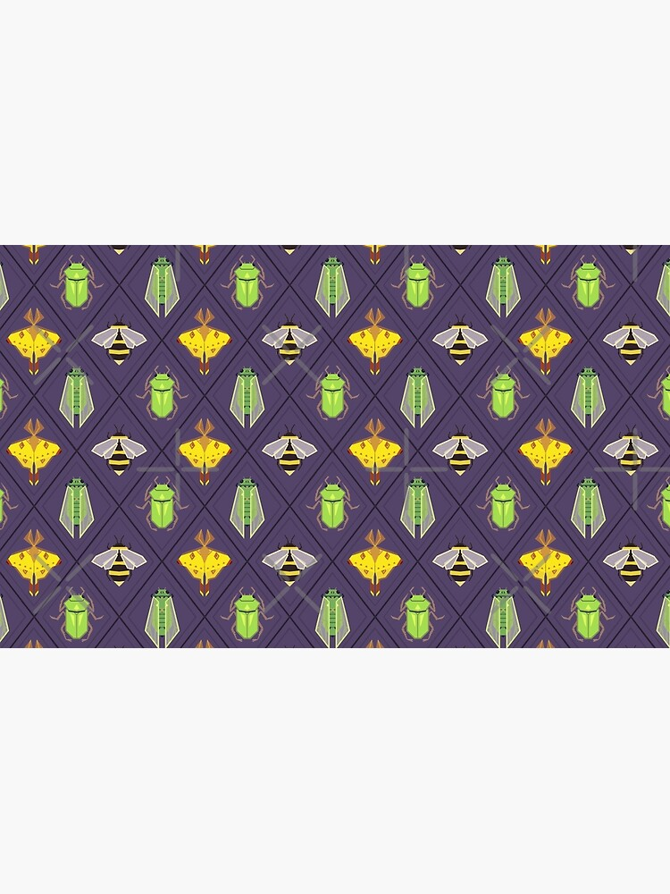 Insecta Geometrica - Geometric Insects Pattern by MaryCapaldi