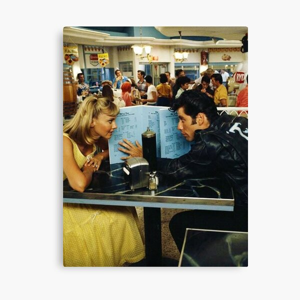 Olivia Newton-John and John Travolta in 'Grease', 1978 Canvas Print