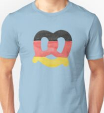Pretzel in Hand-Painted Water Colors of German Flag Unisex T-Shirt