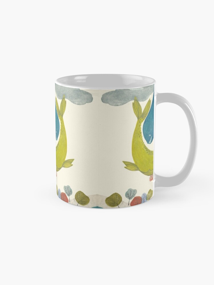 Alternate view of it's raining whales! Mug