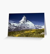 Majestic flower greeting cards redbubble the matterhorn with alpine meadow in foreground greeting card 260 majestic greeting card m4hsunfo