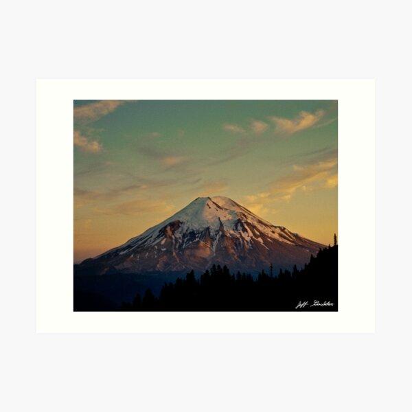 Mount Saint Helens at Sunset Before the Eruption Art Print
