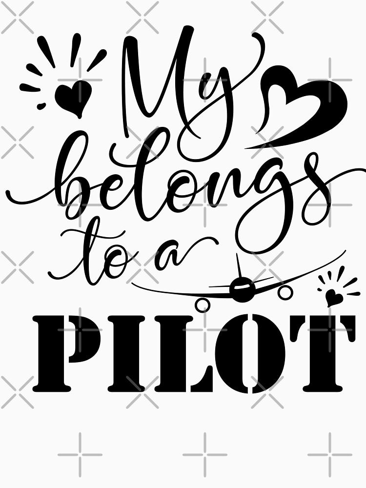 MY HEART BELONGS TO A PILOT - DARK DESIGN by STRADE