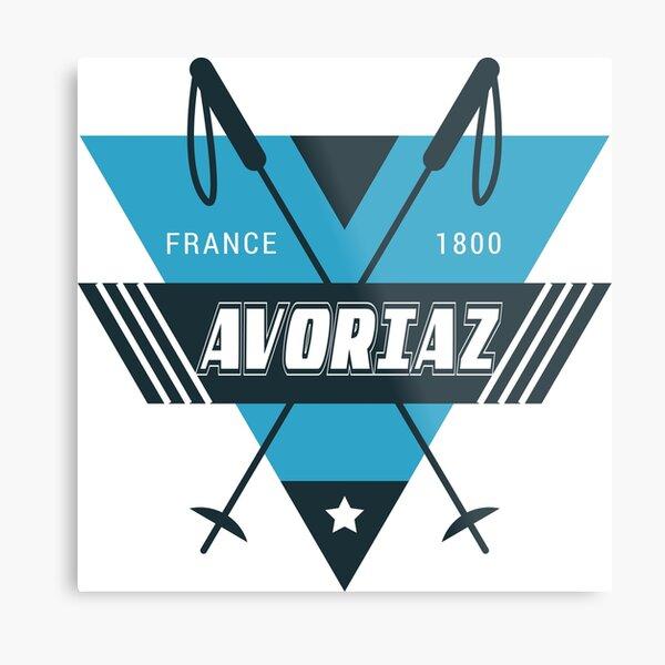 Funny Morzine Avoriaz Ski T-Shirt Gift  Metal Print