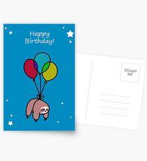 Alles Gute zum Geburtstag Ballon Faultier Postkarten