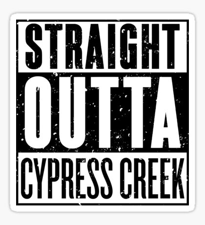 Straight Outta Cypress Creek (inverted) [Roufxis - RB] Sticker