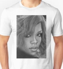Rihanna Pencil Drawing T-Shirt