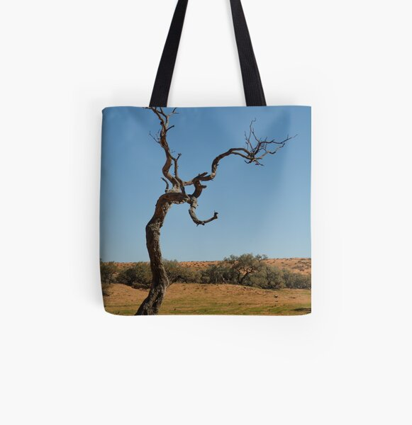 Joe Mortelliti Gallery - Gidgee Tree, Simpson Desert, Queensland, Australia. All Over Print Tote Bag