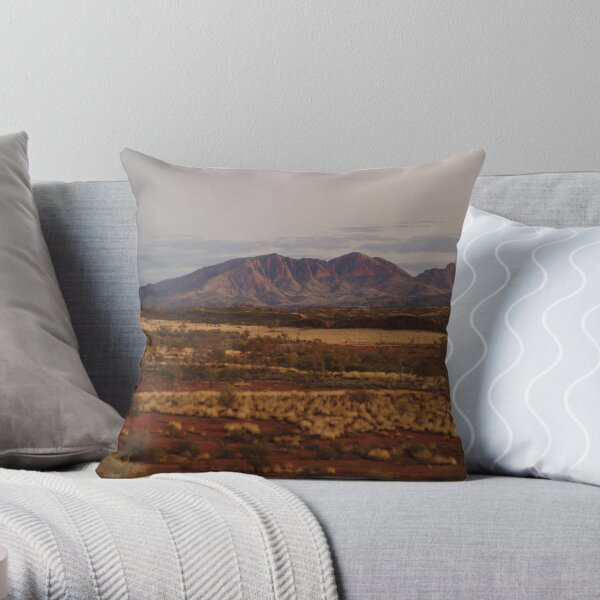 Joe Mortelliti Gallery - Purple tones, Mt Sonder, MacDonnell Ranges, Northern Territory, Australia.  Throw Pillow