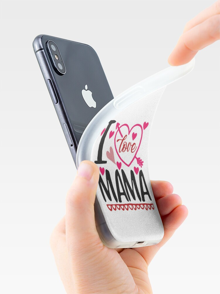 Alternate view of I Love MAMA iPhone Case & Cover
