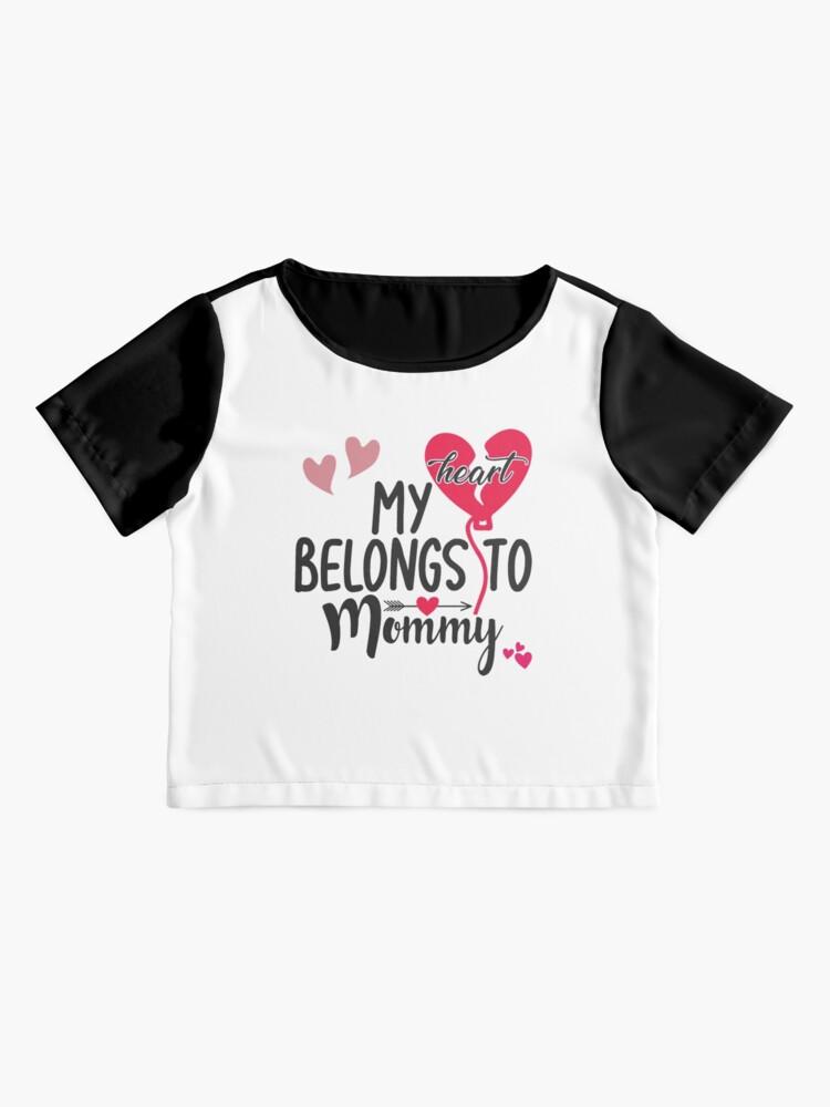 Alternate view of My Heart Belongs To Mommy Chiffon Top