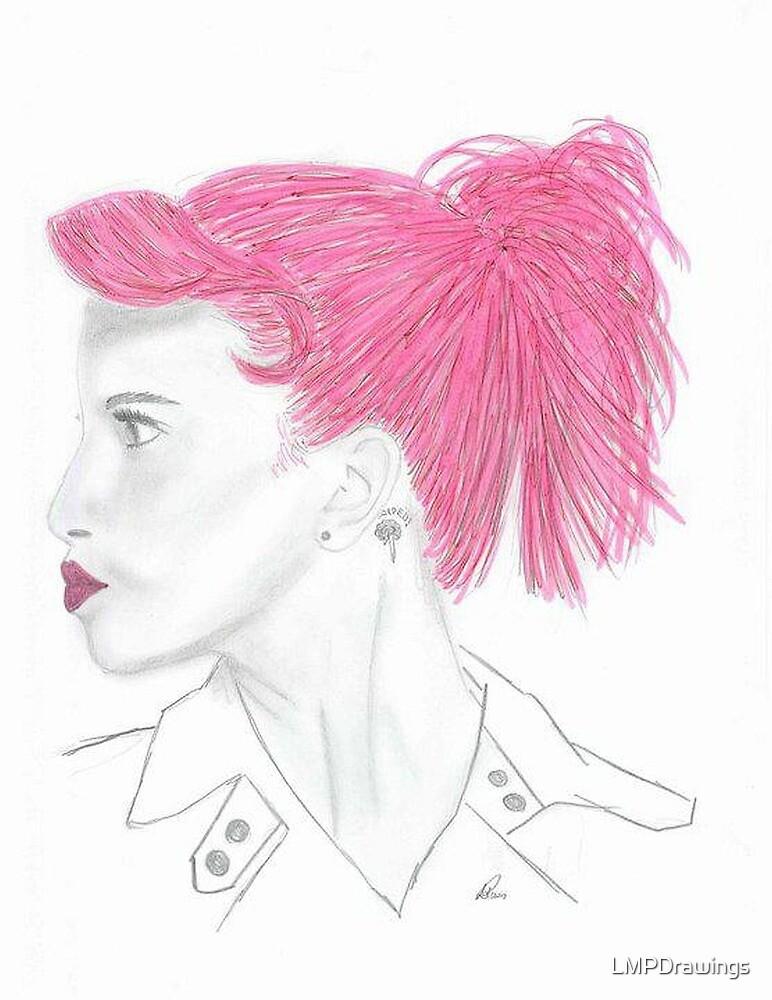 Hayley Williams Pink by LMPDrawings
