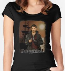 """Captain Hook """"I'm Hooked"""" Comic Design Women's Fitted Scoop T-Shirt"""