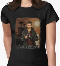 "Captain Hook ""I'm Hooked"" Comic Design Women's Fitted T-Shirt"