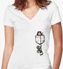 Dread Pocket Roberts Women's Fitted V-Neck T-Shirt