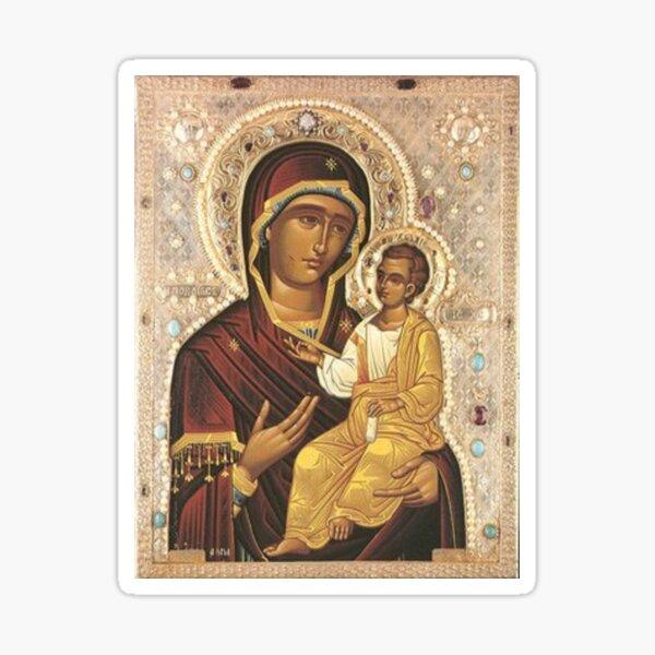 Virgin Mary and Baby Jesus: The Iveron Theotokos  Sticker