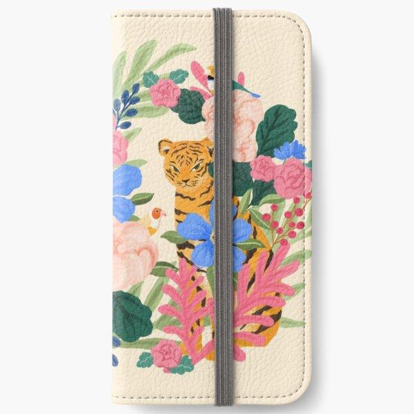Botanical Tiger iPhone Wallet